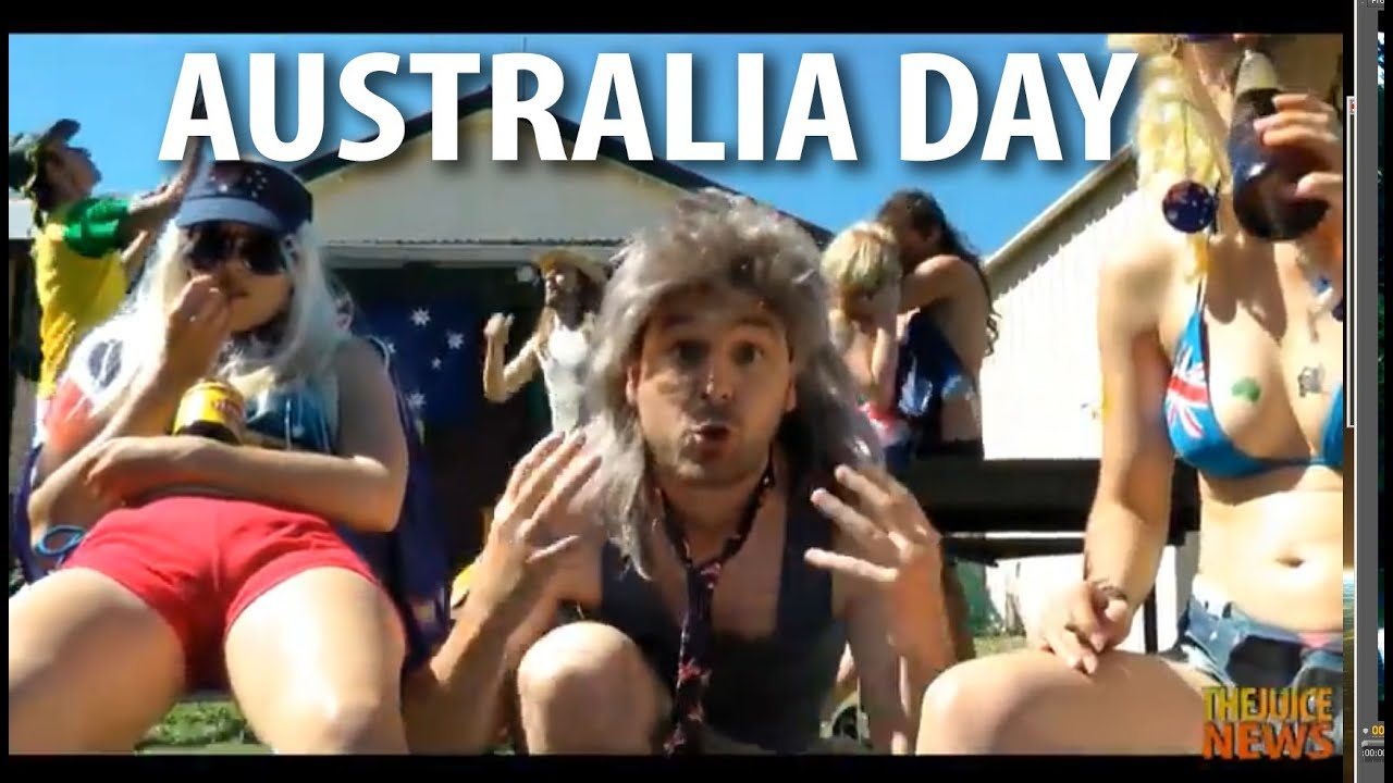 Girls naked on aussie day