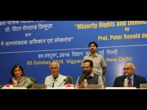 9th NATIONAL ANNUAL LECTURE-Minority Rights and Democracy in India - THE PIONEER ENGLISH DAILY