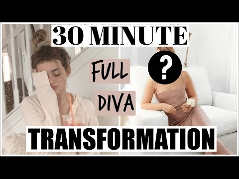 30 min FULL DIVA TRANSFORMATION! Makeup, Hair, & Outfit!