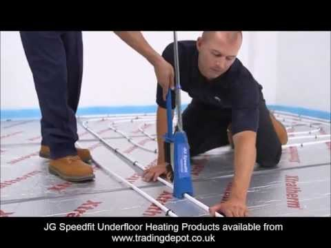 Installing JG Speedfit Underfloor Heating Using The Staple S