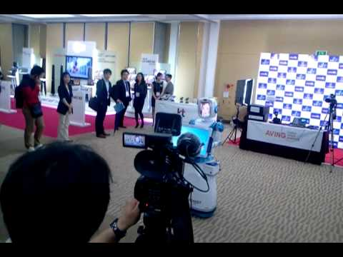 World IT Show Press Part, Welcome Robot Event performed by FURO (Future Robot Ltd.)