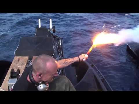 Testing A Flare Half Way Across The Tasman Sea