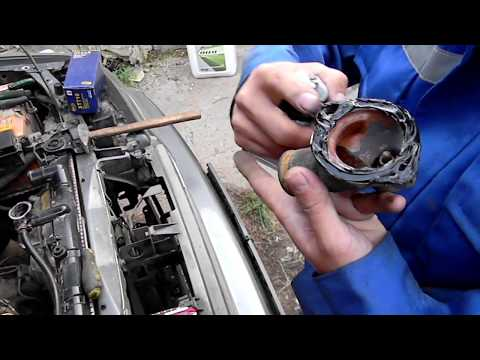 мазда 626 замена термостата 2 литра переходка