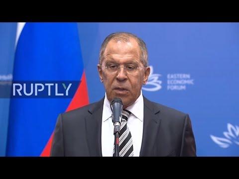 LIVE: Lavrov holds press conference at Eastern Economic Forum in Vladivostok