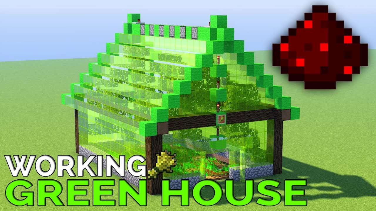 How To Build A Working Green House Easy Redstone Youtube