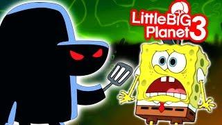 The Graveyard Shift Spongebob Horror Game - LittleBigPlanet 3 PS4 Gameplay