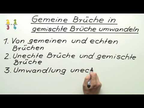umwandlung gemeiner br che in gemischte br che mathematik zahlen rechnen und gr en youtube. Black Bedroom Furniture Sets. Home Design Ideas