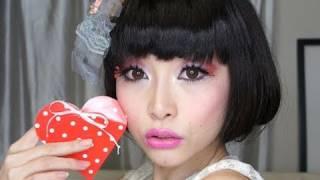 Super Cute Valentine's Hair Style ~ simple fake bob ~