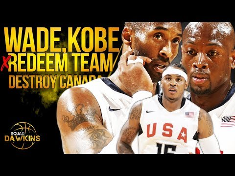 With No LeBron, Bald D-Wade Leads Melo, Kobe x 2008 USA Redeem Team To a 55 Pts Win vs Canada