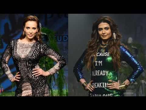 Lulia Vantur And Karishma Tanna Walk The Ramp For Splash On Day 3 Of Lakme Fashion Week 2017