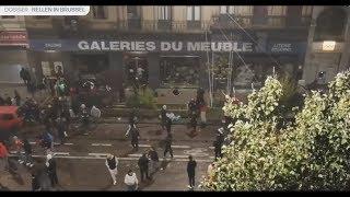 Marocains détruisent et saccagent des magazins à Bruxelles après qualifications du Maroc