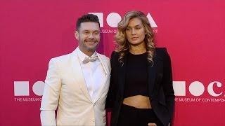 Ryan Seacrest and Shayna Taylor 2017 MOCA Gala Purple Carpet