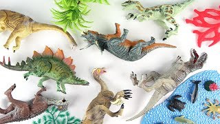 Learn dinosaurs - Brachiosaurus Triceratops Tyrannosaurus Rex for Kids - Mini Fun Toy Movie New Dino