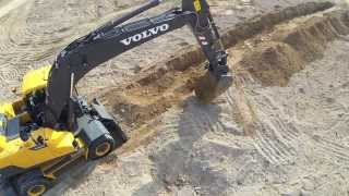 Volvo EW205D Wheeled Excavator promotional video