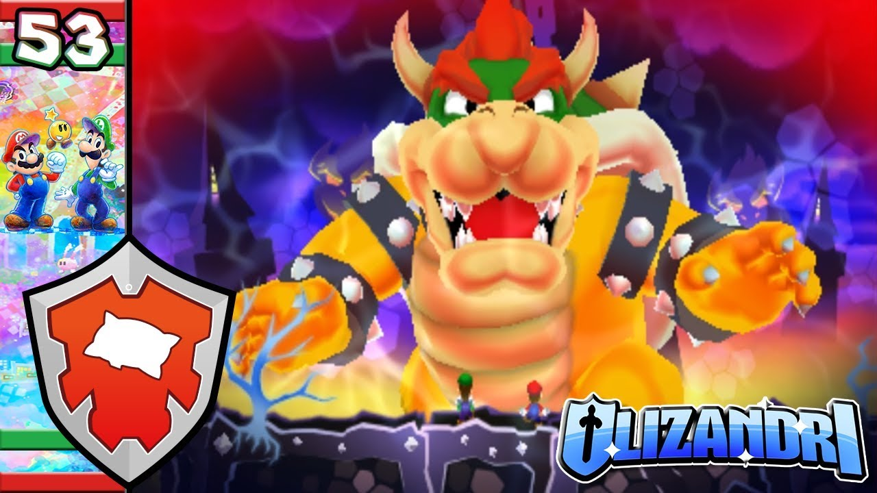 Mario Luigi Dream Team Dreamy Bowser Chase Giant Bowser Battle Episode 53