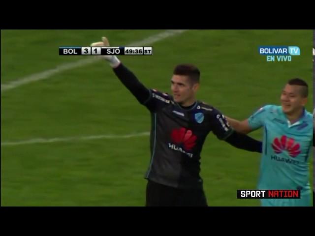 70d1a6fda66f1 Goleiro dá chutão para frente e marca gol da própria área na Bolívia -  Futebol - Fera