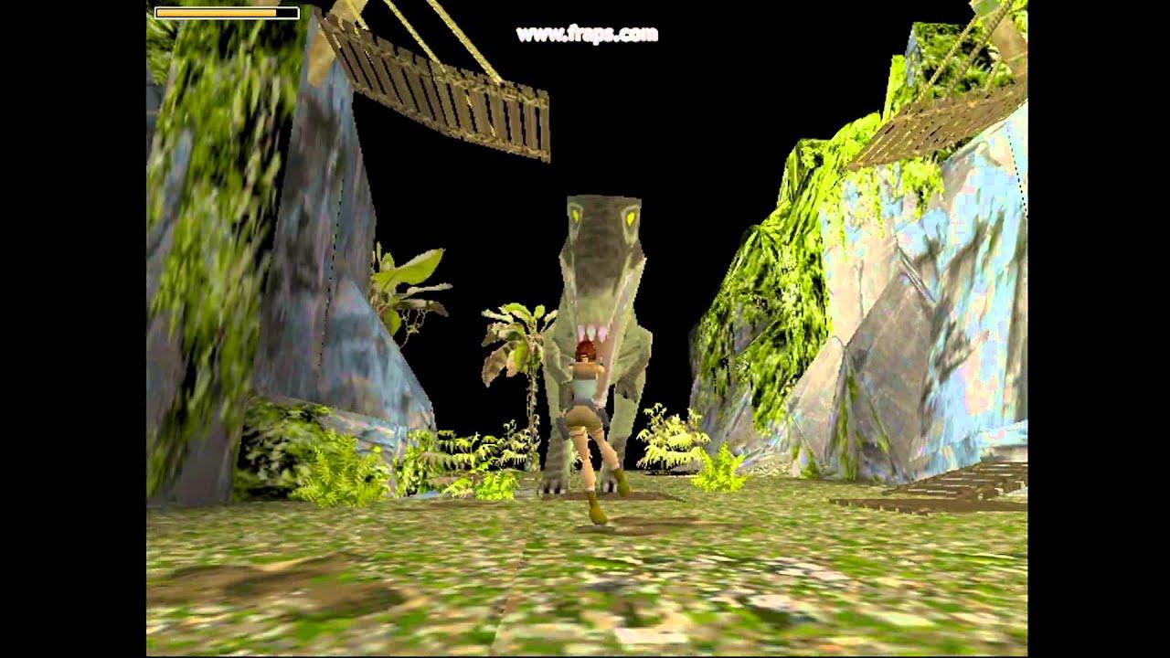 Tomb Raider 1 Lost Valley Lara Croft Versus T Rex 3dfx In