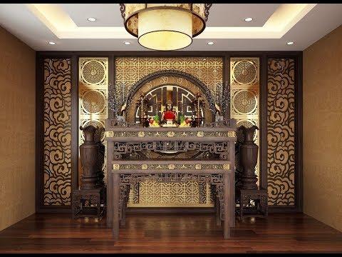 Nhiều mẫu phòng thờ gia tiên đẹp hiện đại năm 2018,Đồ gỗ Minh Long