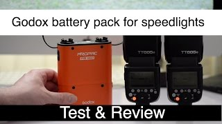 godox PB960 Battery Pack for speedlight flash , test & review Using TT685 flash