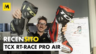 TCX RT-RACE Pro Air. Stivale stradale racing. Test in allenamento
