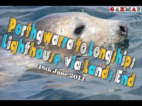 Kayak Trips - Grey Seals - Longships Lighthouse off Lands End.