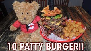 America's Bacon Cheeseburger 10-PATTY Statue Of Liberty Challenge!!