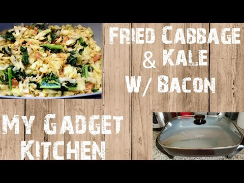 How To: Fried Cabbage & Kale w/Bacon | Oster Electric Skillet | My Gadget Kitchen (137)