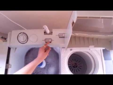 How to use a semi automatic washing machine