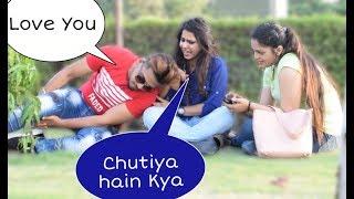 Boy Sleeping Prank On Cute Girls(Gone Terribly Wrong)Part 1| Prank In India | 2019 prank Ajay Dingra