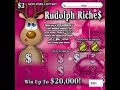 $2 - Rudolph Riches! WIN! Ticket NYS Lottery Scratch Off instant! BENGAL CAT BRAND NEW TICKET WIN!