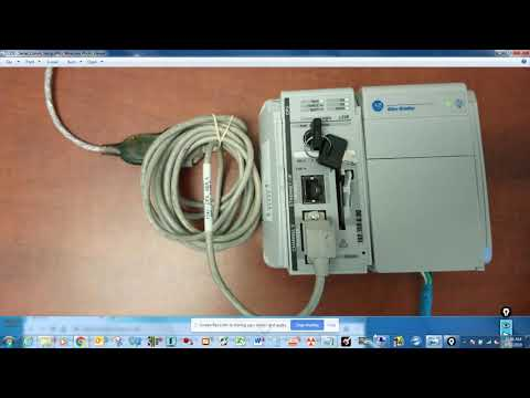 HOW TO FIND IP ADDRESS ON COMPACTLOGIX L32E  WITH SERIAL CABLE