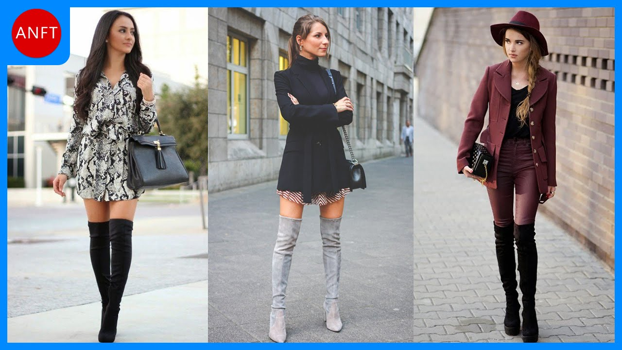 How to Wear Over-Knee Boots - Fashion Inspirations - YouTube
