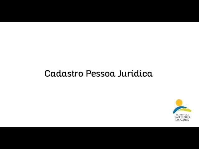 LEI ALDIR BLANC   CADASTRO PESSOA JURÍDICA