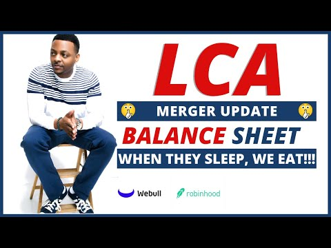 LCA STOCK MERGER UPDATE ??? | Stock Lingo: Balance Sheets