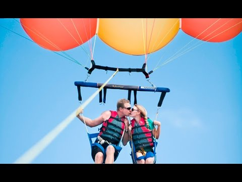 Parasailing In Goa Baga Beach India Water Sports Gopro Video By