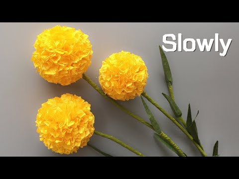 Abc Tv How To Make Billy Buttons Paper Flower From Crepe Paper 1