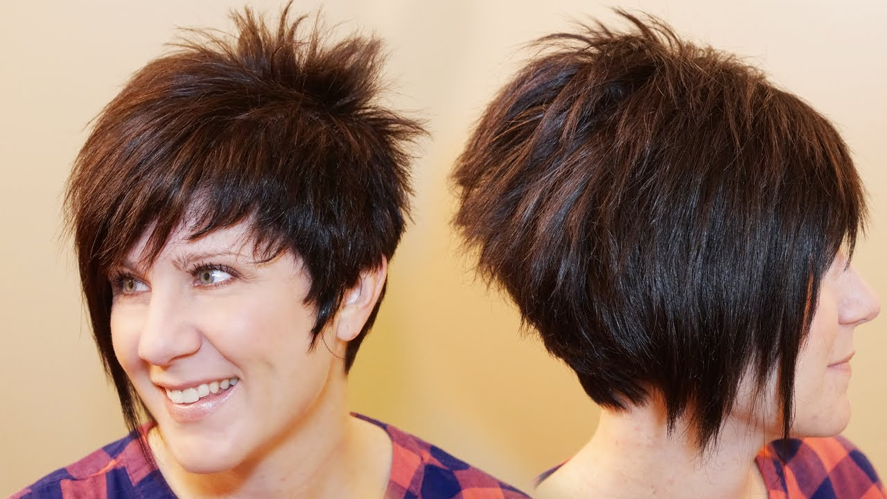 How To Cut Womens Hair Short Pixie Assymetrical A Line