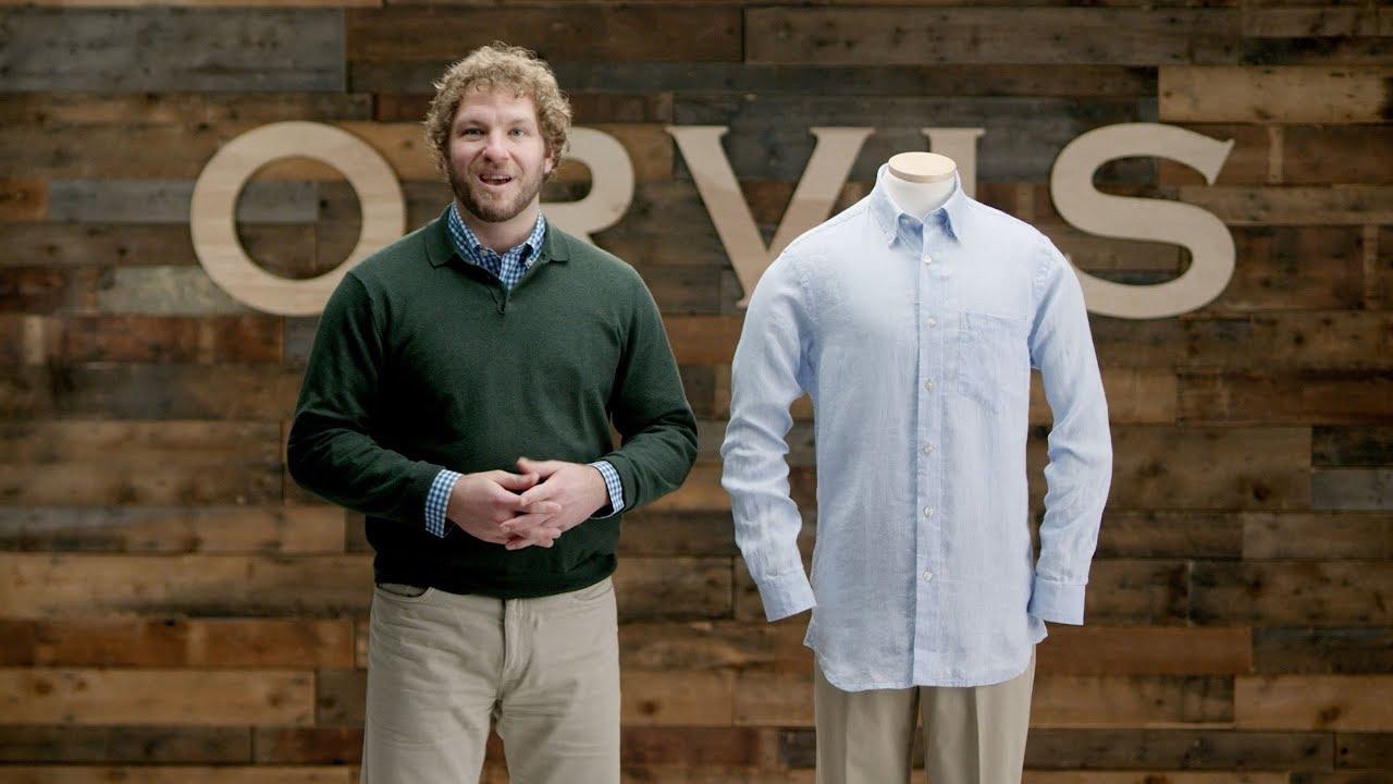 3e9b805455 ORVIS - Pure Linen Long Sleeve Shirt - YouTube