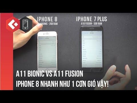 Speedtest: A11 Bionnic vs A10 Fusion | iPhone 8 vs iPhone 7 Plus | Nhanh như 1 cơn gió