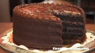 Triple Chocolate Fudge Cake At Neuhaus Cafe