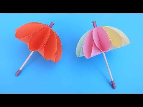 Origami umbrella —DIY Paper umbrella 折纸:雨伞