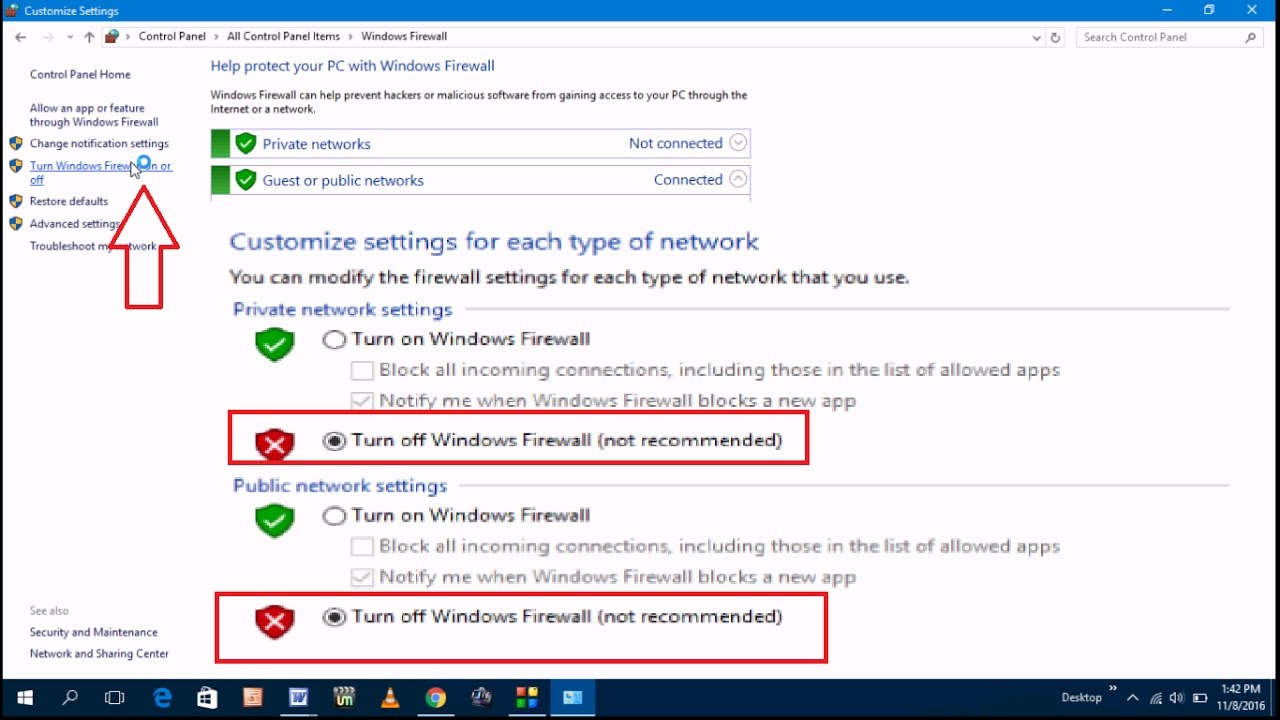 What is a firewall and how to disable it in different versions of Windows