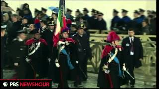 Watch the Swiss Guard March Into Vatican City in Preparation of New Pope