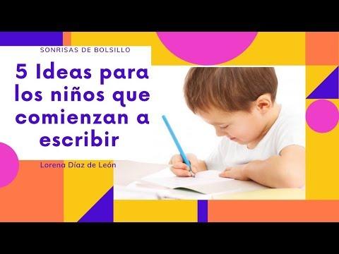 ideas-para-los-niños-que-comienzan-a-escribir