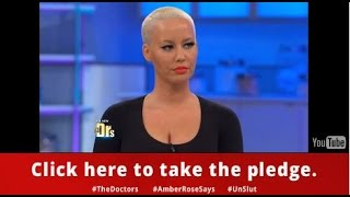Amber Rose Says Take The Pledge to Stop Slut-Shaming