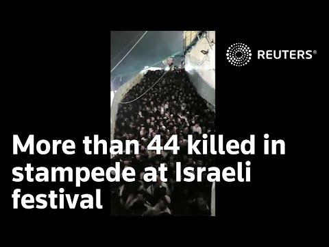 Una estampida durante una celebración religiosa en Israel causa decenas de muertes
