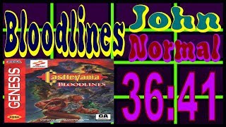 Castlevania: Bloodlines John Normal% Speedrun 36:41