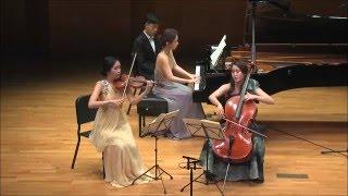 Schubert piano trio in E flat Major, Notturno, by Trio Jade