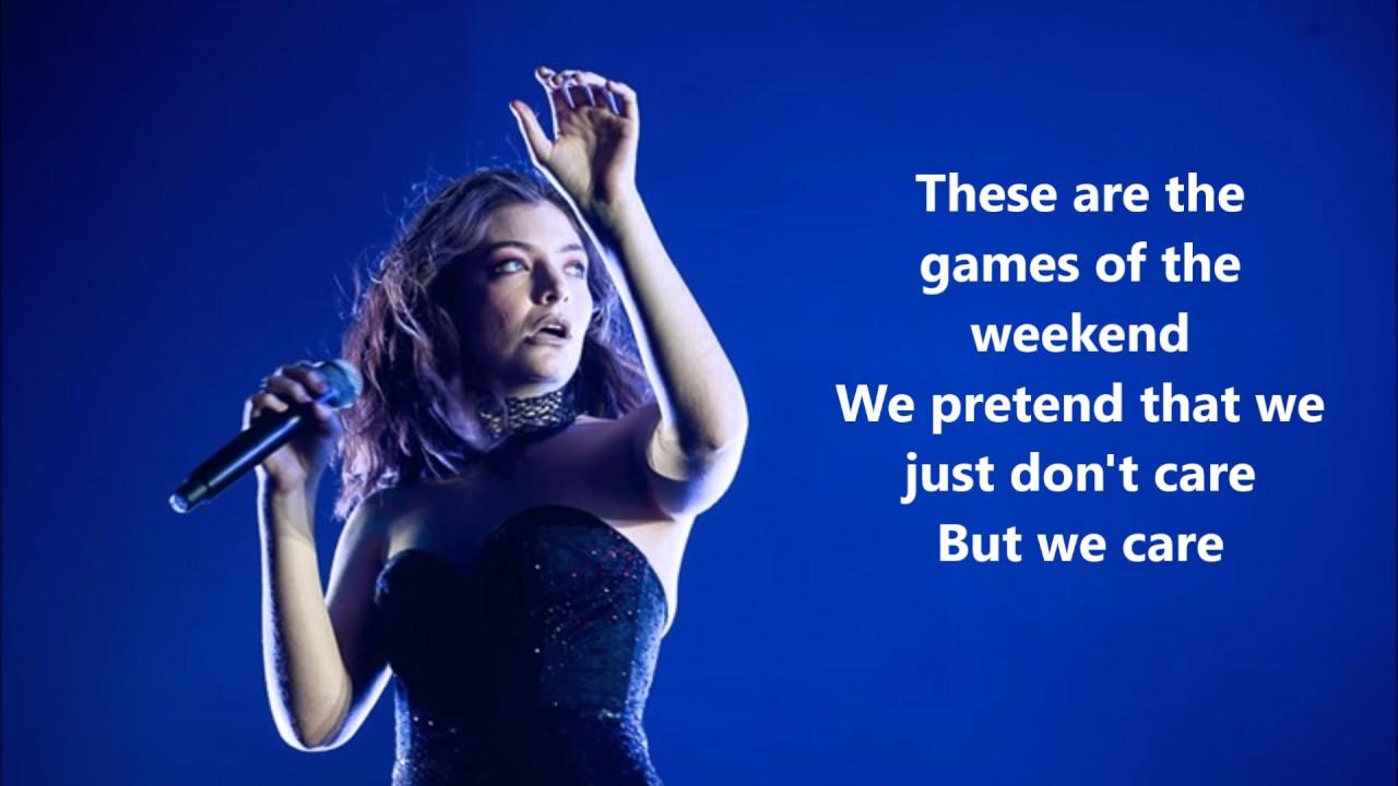 Download Lorde - Sober lyrics