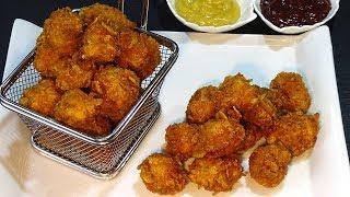 Deliciosas Palomitas de pollo al estilo KFC, caseras y súper fácil - Recetas de cocina - Tutorial